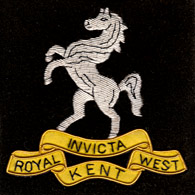 Royal West Kent wire blazer badge