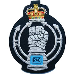 Royal Armoured Corps Wire Blazer Badge