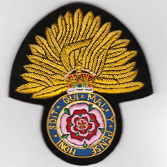Royal Fusiliers Wire Blazer Badge