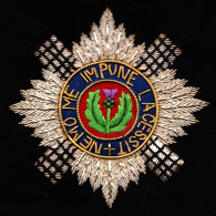 Scots Guards wire blazer badge