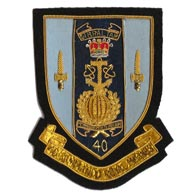 40 Commando Blazer Badge