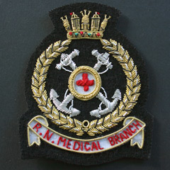 Royal Navy Medical Branch Blazer Badge