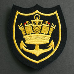 Merchant Navy Crown and Anchor Silk Blazer Badge