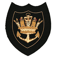 Merchant Navy Crown and Anchor Blazer Badge