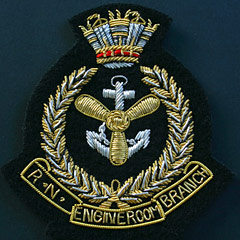 RN Engine Room Branch Wire Blazer Badge