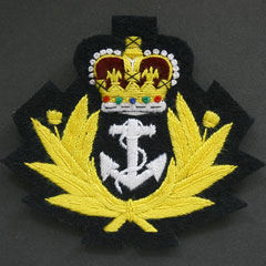 Royal Navy Crown and Anchor Silk Blazer Badge