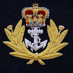 Royal Navy Crown and Anchor Wire Blazer Badge