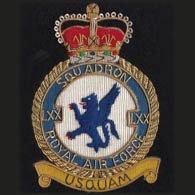 70 Squadron RAF wire blazer badge