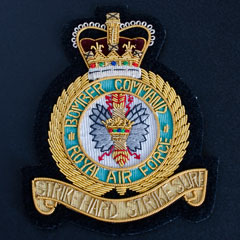 RAF Bomber Command Wire Blazer Badge