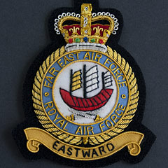 RAF Far East Air Force wire blazer badge