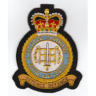 RAF Fighter Command wire blazer badge