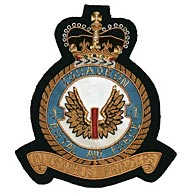 RAF First Squadron wire blazer badge