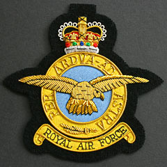 RAF with Motto wire blazer badge