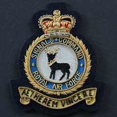 RAF Signals Command wire blazer badge