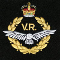 RAF Volunteer Reserve silk blazer badge