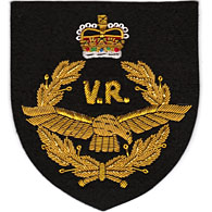 RAF Volunteer Reserve wire blazer badge