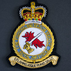 RAF Firefighting and Rescue Service Wire Blazer Badge
