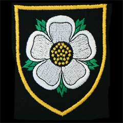 Yorkshire Rose Silk Blazer Badge