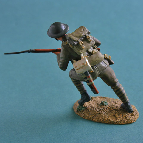 Britains WW1 British Infantry Advancing Metal Figure