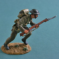 Britains WW1 British Infantry Advancing Metal Figure Image 2
