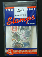 250 Worldwide Stamps by Stanley Gibbons