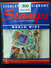 500 Worldwide Stamps by Stanley Gibbons