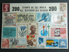 200 Stamps of the World Mixed Pack