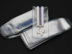 Clear Soft Plastic Miniature Medal Wallets (100)