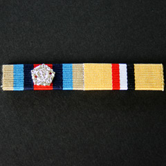 OSM Afghanistan and Iraq Medal Buckram Ribbon Bar