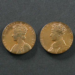 1937 George 6th Coronation Medallion Image 2