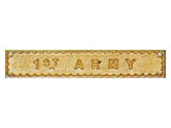 1st Army Medal Bar