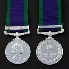 Campaign Service Medal with NI Bar