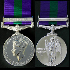General Service Medal with Palestine bar