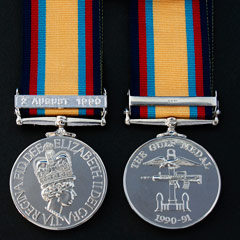 Gulf Medal 1990-91 with 2nd August Clasp