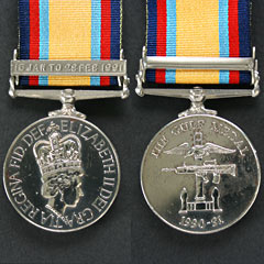 Gulf Medal 1990-91 with Jan - Feb Clasp