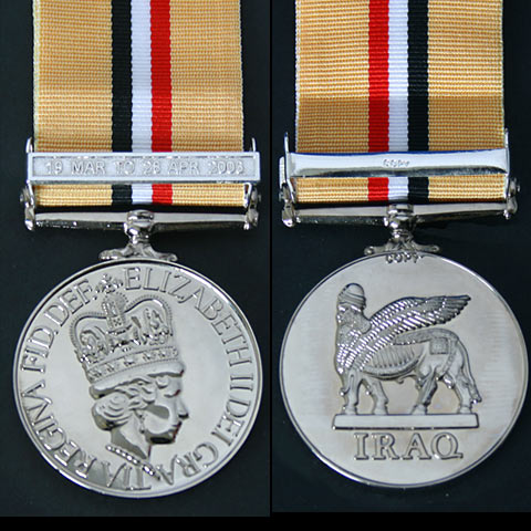 Iraq 2003 Gulf War Medal with clasp Copy