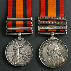 Queens South Africa Medal with 3 Clasps - Armitage