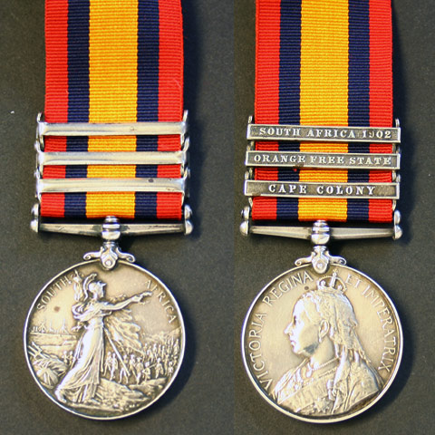 Queens South Africa medal to S.Hockenhull