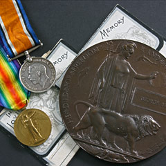 Great War Medal Collection with Death Plaque