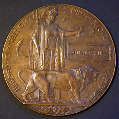 Great War Memorial Plaque - Albert Carlile