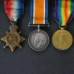 WW1 1914 Star Trio Group of Medals