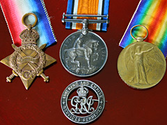 1st World War Trio with silver war badge