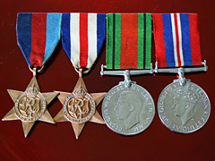 WW2 4 medal mounted group