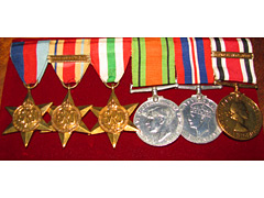 6 Medal Group WW2 with QE2 Special Constabulary Medal
