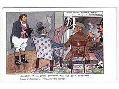John Bull Fireside comic political postcard