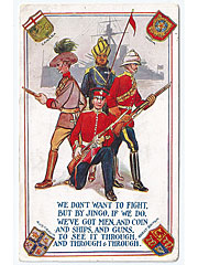 Patriotic Military postcard for the GB and Commonwealth