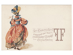 Les Chaussures Advertising Postcard