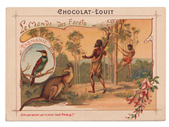 Chocolat Louit Trade Card - Tasmania
