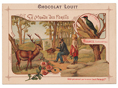Chocolat Louit Trade Card - France