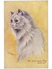 Louis Wain  - We know each other don't we - Cat Postcard